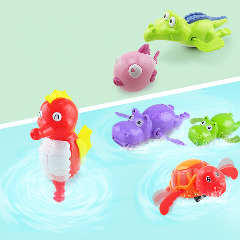 Kid Baby Children  Swimming Turtle Animal Toy For Pool Bath Fish  Wind-Up Toys