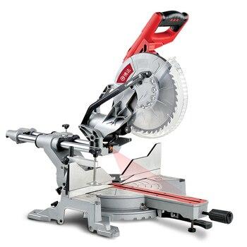 High Power Verstekzaag 10 Inch Multifunctionele Duwstang Hout Snijmachine Laser Positionering Elektrische Gereedschap Trolley Saw