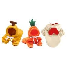 Зимняя толстовка с капюшоном для собак и кошек милый костюм