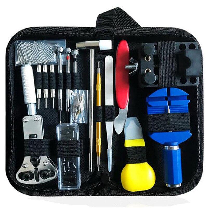 16/147pcs Watch Repair Tool Kit Watch Link Pin Remover Case Opener Spring Bar Remover Horlogemaker Repair WatchTool Kit