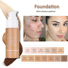 30ml Liquid Foundation Cream Matte Oil-Control Concealer Base Lighten Skin Cosmetics 13Colors Optional For Daily Face Makeup