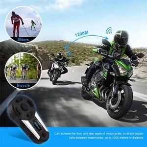 Image 2 - V6 plus 6 pilotos capacete da motocicleta bluetooth fone de ouvido 1200 m fm led interfone sem fio completo duplex