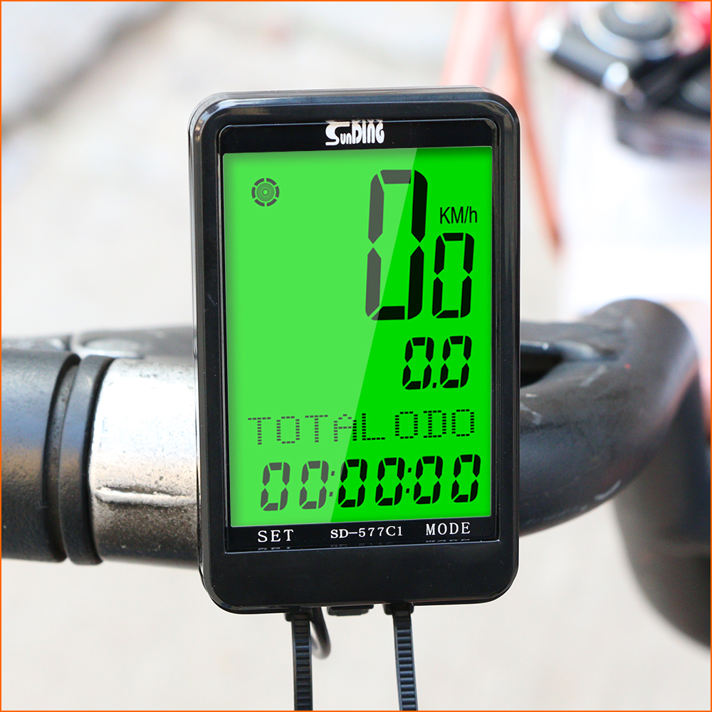 Waterproof Bicycle Computer LCD Digital Display GPS <font><b>Bike</b></font> Computer Wireless Cycling Speedometer <font><b>Power</b></font> <font><b>Meter</b></font> Cycling Accessories image