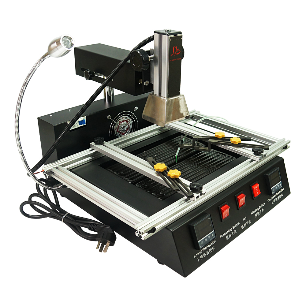 Tools : Hot air smd soldering station bga rework station ir model ly m770 220V 2 zones manual operation 1900W  automatic