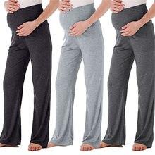 Mulheres grávidas calças novas moda sem costura mulheres grávidas calças casuais yoga roupas de maternidade primavera wear