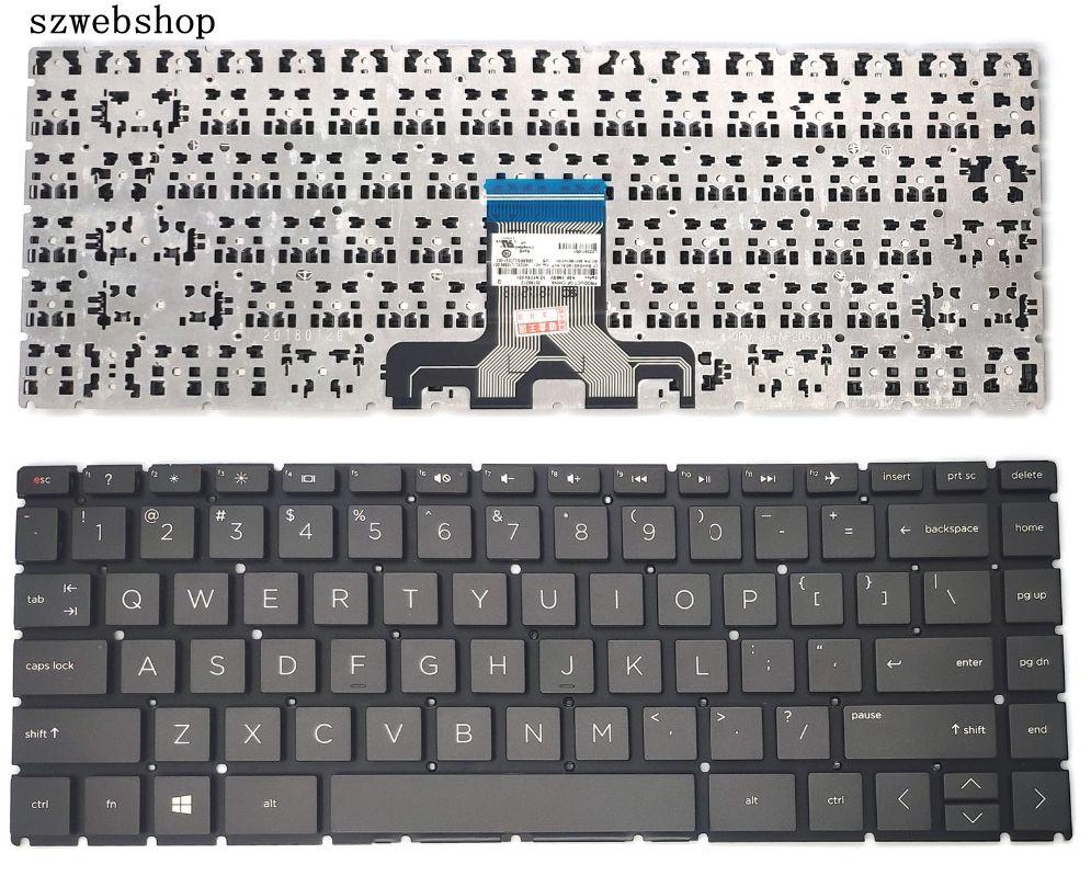 New For HP Pavilion X360 New HP Pavilion X360 14m-cd 14t-cd 14-ce Keyboard Black US L23241-001 US Keyboard