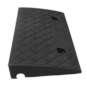 1PC Hard Plastic Curb Ramps Portable Heavy Duty Threshold Ramp for Car Truck Scooter Bike Motorcycle 50x27.5x6.7cm(China)