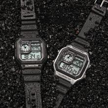 LED reloj deportivo hombre czarny relogio cyfrowy masculino moda zegarek męski zegarek sportowy mężczyźni wodoodporny montre homme saat tanie tanio BILIYO Z tworzywa sztucznego 25cm 3Bar Klamra Plac 20mm 15mm Szkło Luminous Kompletna kalendarz Odporne na wodę Alarm