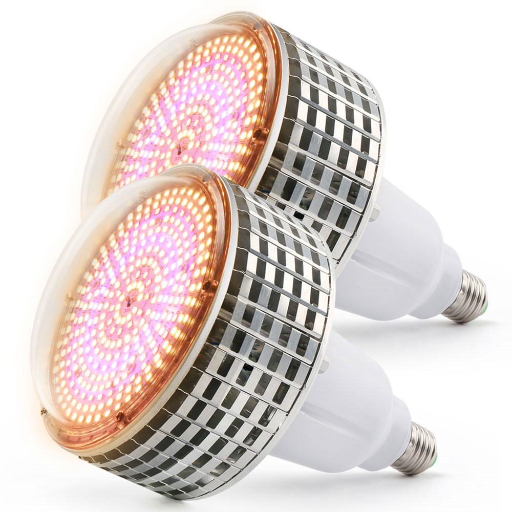 (2pcs/Lot) 300W E27 Full Spectrum Led Grow Lights For Hydroponics Cultivation Flowers Medical Indoor Plants Grow Tent Lighting