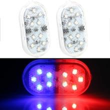 2 Pcs 10 Leds Auto Openning Deur Waarschuwingslampje Draadloze Magnetische Signaal Lamp Veiligheid Anti Collision Lights Parking Lamp