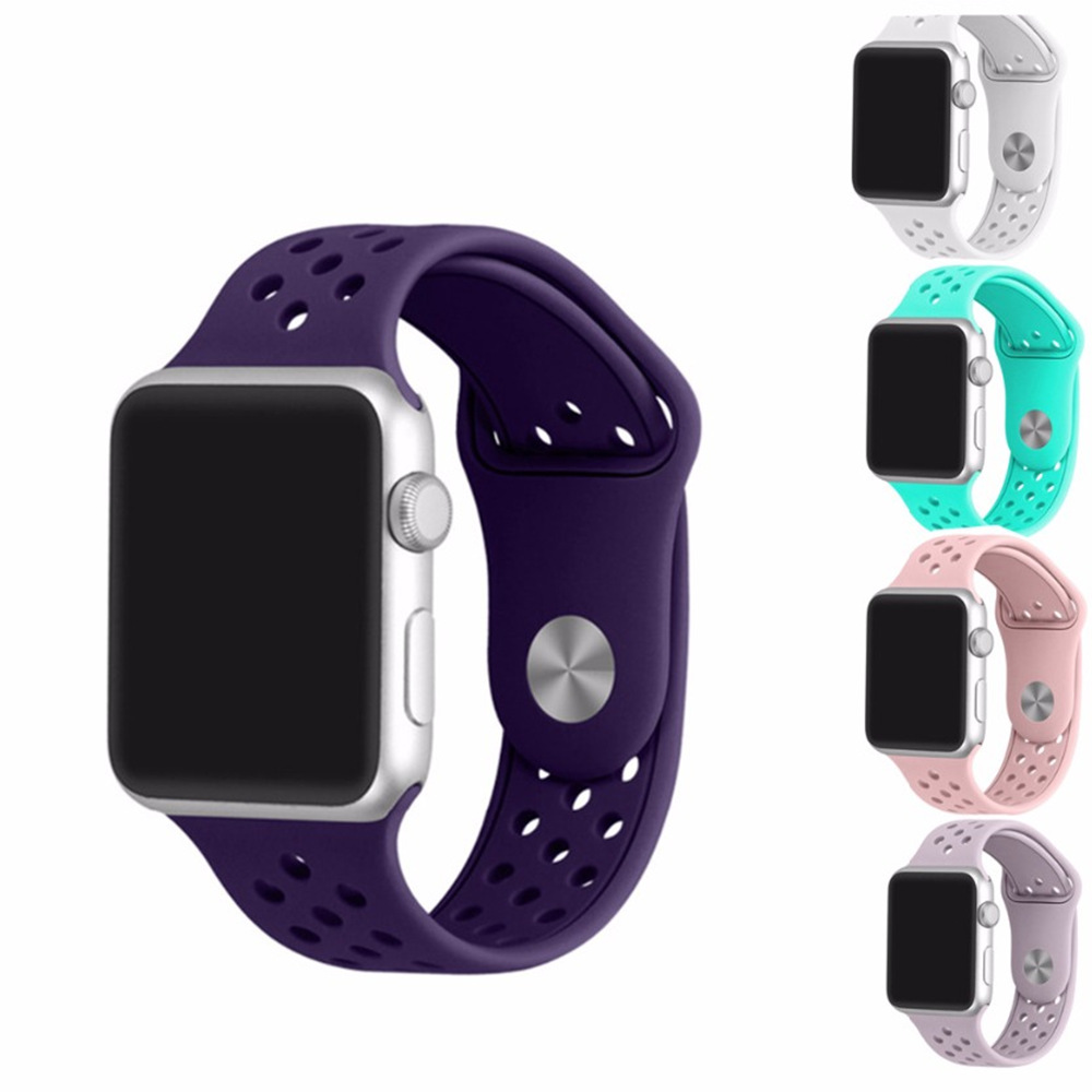 Silicone Strap For Apple Watch 4 Band 44mm 40mm IWatch Band 42mm 38mm Breathable Sports Bracelet Watchband For Apple Watch 3 2 1
