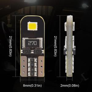 Image 2 - Safego 10pcs T10 Canbus W5W LED Car Light Bulb 158 147 161 168 184 192 2835 SMD Auto Signal Width Reading Lamp 12V White 6000K