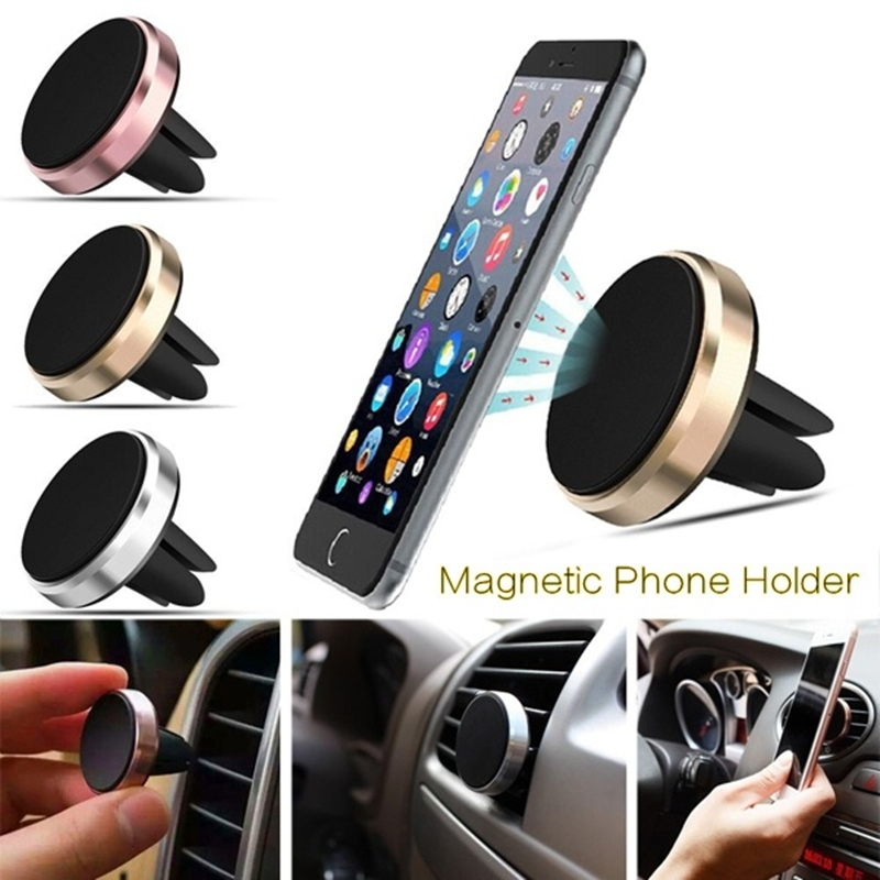 New Retail Luxury Magnetic Car Phone Stand Universal Car Air Vent Magnet Stand In Car For Iphone Hauwei Samsung Xiaomi Any Phone