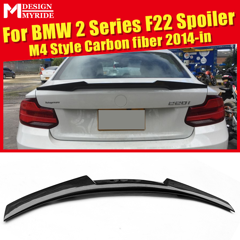 F22 Rear Spoiler Tail New AEM4 Style For 2 Series F23 220i 228i 235i Carbon Fiber Rear Spoiler Rear Trunk Wing car styling 2014 in Spoilers Wings from Automobiles Motorcycles