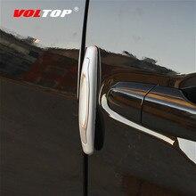 4 pces porta do carro anti colisão tira adesivos de carro decoração acessórios universal porta lateral colisão fricção proteção