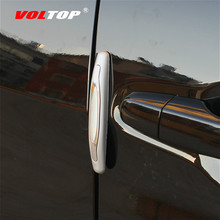 4pcs Car Door Anti-collision Strip Stickers Decoration Accessories Universal Side Collision Rubbing Protection
