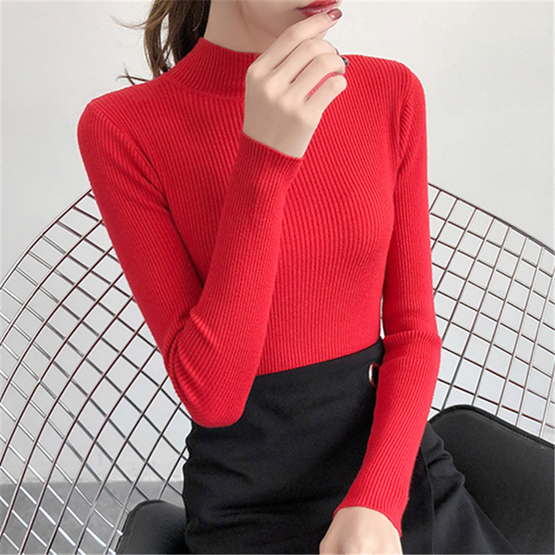 Women Sweater Woman Turtleneck Sweaters Women Sweaters And Pullovers Knitted Stretch Sweater Women Suter Knitted Stretch Sweater