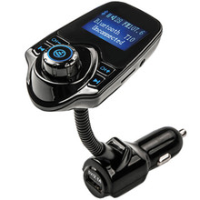 Car Kit with LCD Display Handsfree Set Wireless In-Car Bluetooth  FM Transmitter MP3 Music Player 5V 2.1A USB Car Charger lcd display wireless radio fm transmitter car kit with car charger for iphone5 6