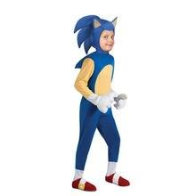 4-13Y Kids Anime Deluxe Costume Girl Game Character Hedgehog Cosplay Halloween Costume for Kids