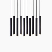 Cylinder Dimmable LED Pendant Lights Long Tube Lamps Dining Room Shop Bar Decoration Cord Pendant Lamp Background Wall Lighting