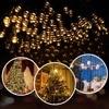 Outdoor Lighting String 22m 200 LED Solar Light for Garden Decoration Christmas Fairy Light Street Garland Home Solar Power Lamp review