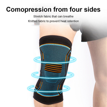 1PC Compression Knee Brace Workout Knee Support for Joint Pain Relief Running Biking Basketball Knitted Knee Sleeve for Adult