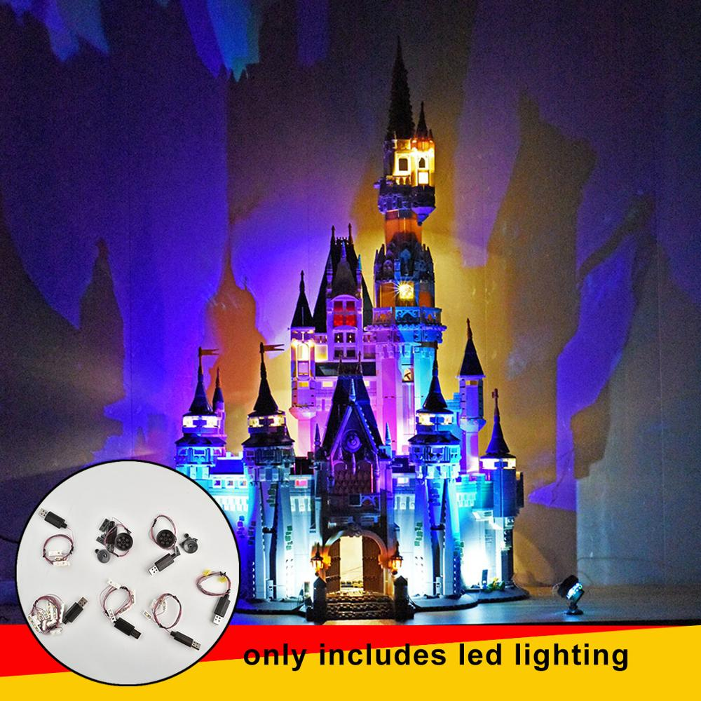 71040 USB Small Particles LED Building Block Light Accessory Modified Kit for Castle 71040 Normal/Updated Version LED Included