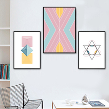 Abstract Geometric Circle Nordic Poster Wall Art Print Canvas Painting Posters And Prints Pictures For Living Room Decor