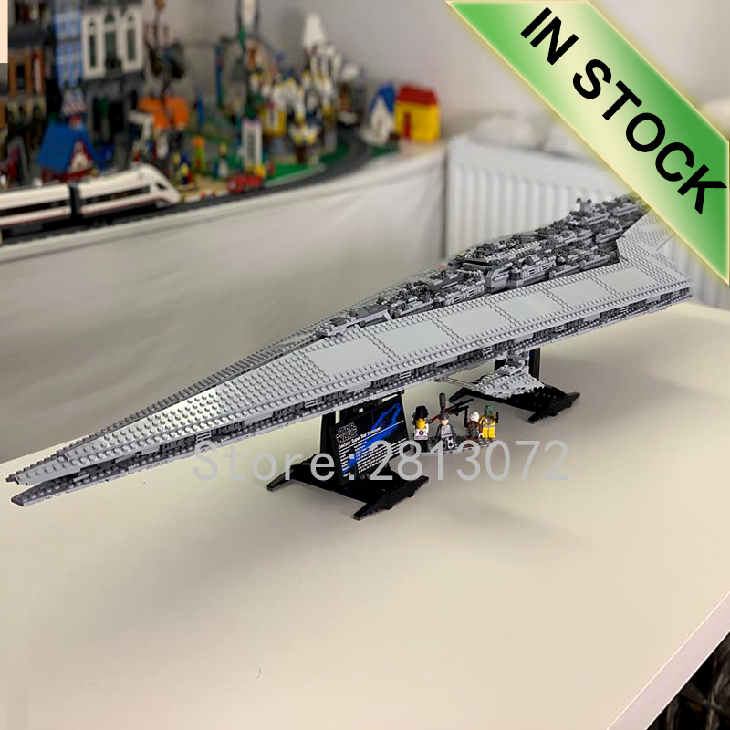 05028 In Stock The Super Star Destroyer Star Movie Wars Series 3125PCS Model Building Blocks Compatible 10221 Children Toys