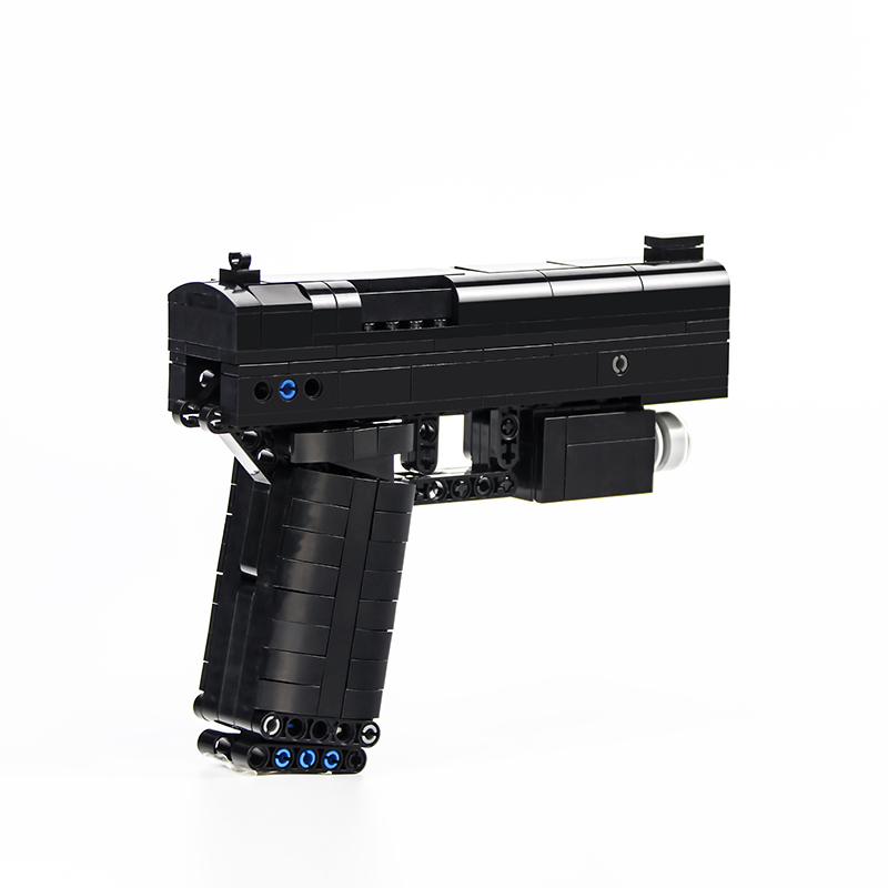 MOC-22922 DIY Pistol Gun Model Military  Building Blocks Educational Toy Bricks
