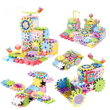 Toy Blocks Construction-Gear Early-Educational-Toys Kids Children Track Plastic for Birthday-Gifts