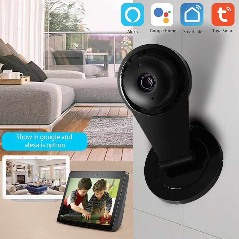 1080P Smart Home Security IP Camera Security Camera With Motion Sensor Compatible With Smart Life Tuya APP Alexa EU Plug
