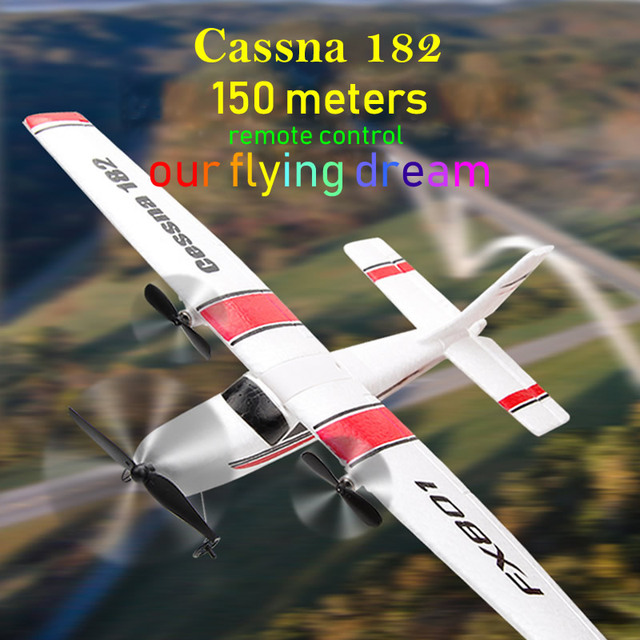 Beginner Electric RC Airplane Remote Control 150 meters Aeroplane Glider Plane Cassna 182 More Battery can Improve Flying Time 5