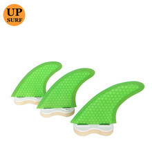 FCS Fin G3/G5/G7 Surf Boards Fins FCS thruster fins 3PCS pure color green set Surfing Fin Quilhas  thruster