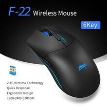 ZELOTES F-22 2,4 GHz Drahtlose Maus Gaming Maus 6 Tasten Optische Mäuse Ergonomische Design mit 3 Einstellbare DPI für PC laptop