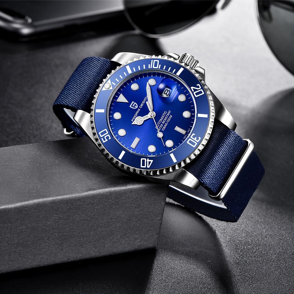PAGANI DESIGN 2020 Top Brand Men Mechanical Watch Business Automatic Watch Stainless Steel Waterproof Watch Men relogio masculin