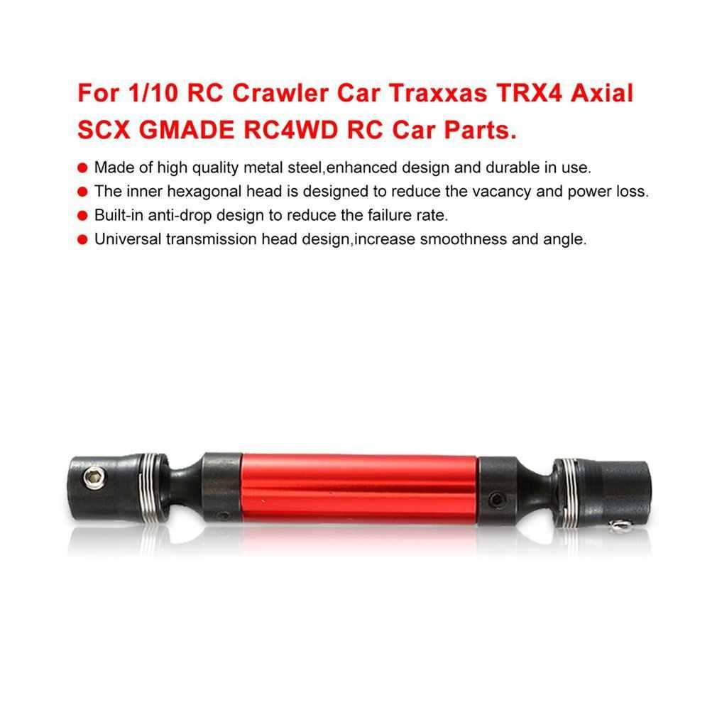 Siyah kırmızı Metal tahrik mili için pas önleyici 1/10 RC paletli araba Trax TRX4 eksenel SCX GMADE RC4WD RC araba aksesuarları