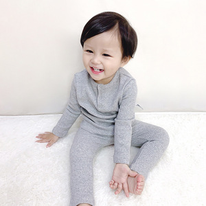 Image 5 - HITOMAGIC Boys Girls Clothes For Children Ribbed Set Fitted With Full Sleeve Kids Autumn Winter Cloth Pajama Sets Pants