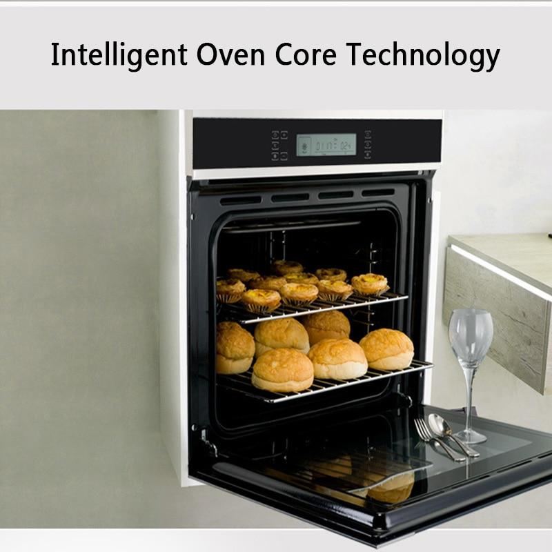 K90 Встраиваемая электрическая духовка домашняя интеллектуальная многофункциональная сенсорная ЖК-панель 58 литров из нержавеющей стали
