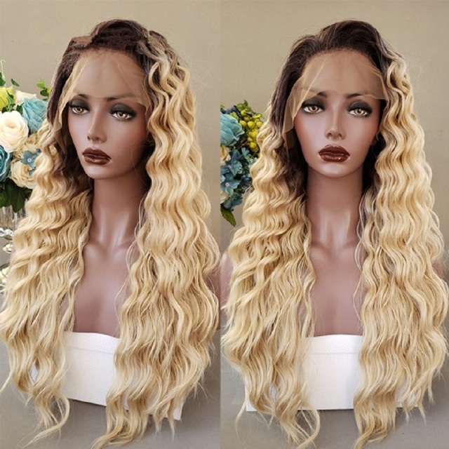 #4/613 Ombre Honey Blonde Body Wave Lace Front Human Hair Wigs Brazilian Remy Hair Pre Plucked with Baby Hair 8-26'' Lace Wigs 1