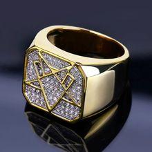 Мужское и женское кольцо в стиле хип хоп изысканный Фианит масонское