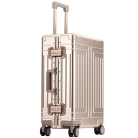 top quality 100% aluminum magnesium boarding Rolling Luggage Perfect for Spinner brand Travel Suitcase