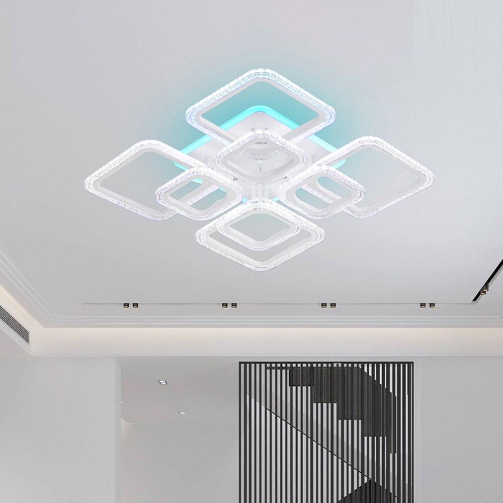 2020 novo lustre moderno led lustres luzes para sala de estar cozinha quarto kids' sala regulável arte deco controle remoto branco