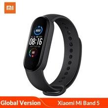 Xiaomi reloj deportivo inteligente Mi Band 5, pulsera inteligente Original con control del ritmo cardíaco, versión Global, para Android e iOS