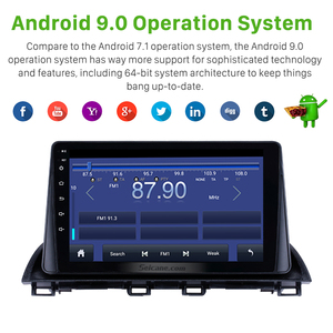 Image 3 - Rádio do carro de seicane android 9.0 2din reprodutor de vídeo multimídia gps para mazda 3 axela 2013 2018 suporte swc dvr obd wifi espelho link