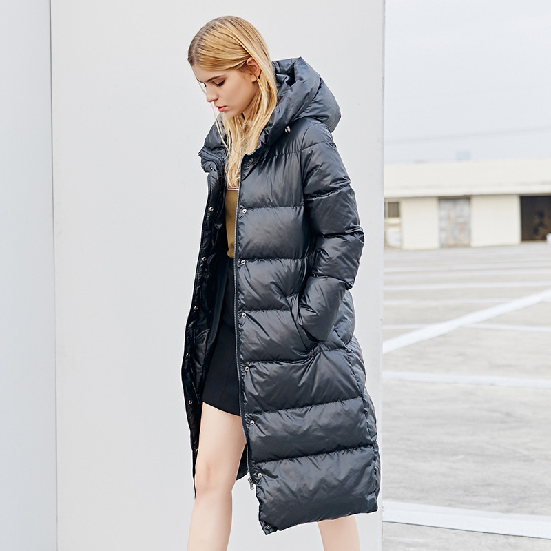 Winter Jacket Women Down Coat Female Thick 90% White Duck Down Jacket Womens Long Coats Warm Hooded Clothes 2019 16Y0303