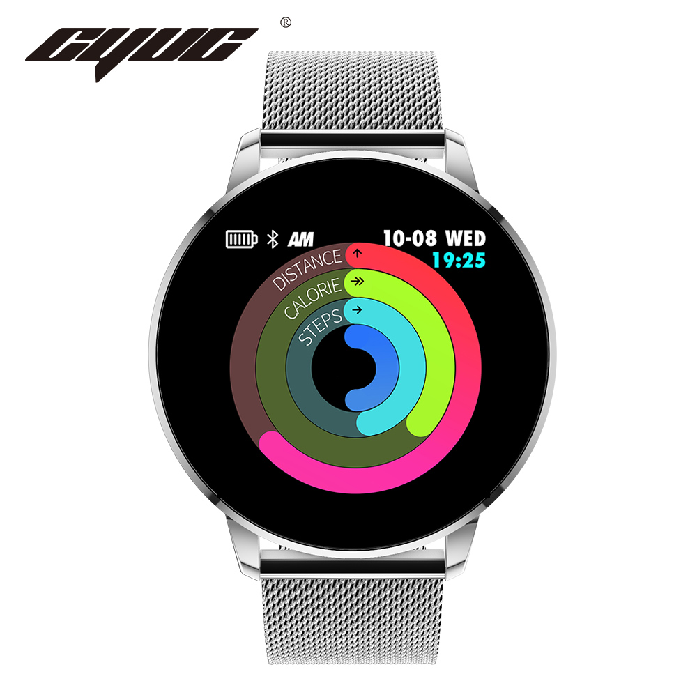 CYUC Q8 Advanced 1.3 Inch Color Screen Fitness Tracker Smart Watch Heart Rate Monitor Smartwatch Q8 Upgraded Version