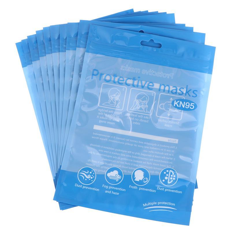 20 PCS Storage Bags Reusable Reclosable Ziplock Plastic Disposable Mask Packaging Bag Sealing Pouch For Office Home Shop
