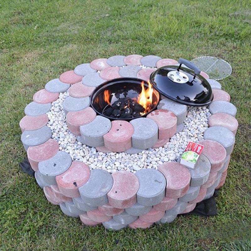 Garden DIY Plastic Mold Path Pavement Model Concrete Stepping Stone Cement Brick Maker DIN889