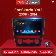 Junsun-Radio Multimedia V1 con GPS para coche, Radio con reproductor, navegador, 2 GB + 32 GB, Android 10,0, RDS, 2 din, dvd, para SKODA Yeti 5L